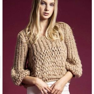 Anthropologie Moon River Chunky Knit Sweater